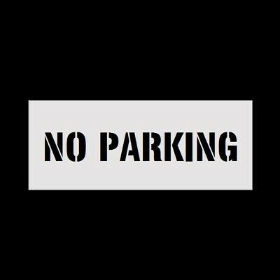 "8"" Letters NO PARKING Reusable Stencil for Parking Lot Spray Painting 2mm PVC"