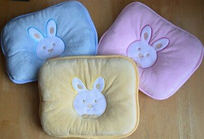 Baby Prevent Flat Head Anti Roll Neck Support Pillow Ultra Soft Rabbit Cushion