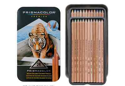 Prismacolor Premier Water-Soluble Colored Pencil Set, 24 Colors