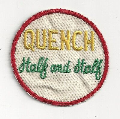 1950's Quench Half and Half Soda Uniform Patch - Richardson - Rochester, NY