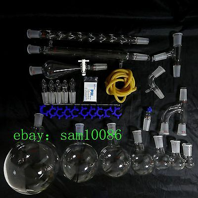 New Lab Glassware Kit,2000,Organic Chemistry Laboratory Unit,24/40,Free Shipping