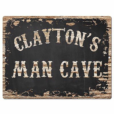 PPWP0253 WARNING CLAYTON/'S Private Property Chic Sign man cave decor Gift