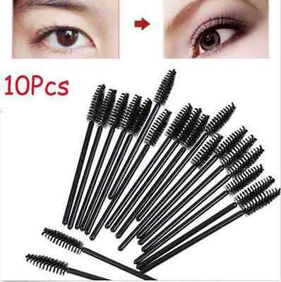 Makeup Tool Oblique Design Rotate Eyebrow Brush Cosmetic Brow Brush NEW 10Pcs EY
