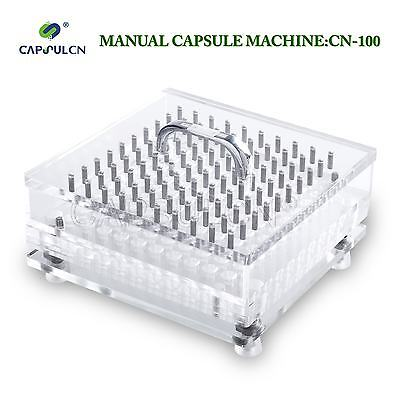 20% OFF!!! 100-Hole Manual Capsule Filling Machine Size 000-0 CN-100CL US Stock