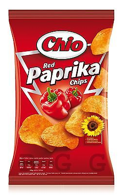 CHIO CHIPS - Red Paprika Chips - 175 gr bag - German Production