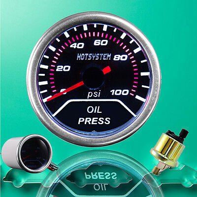 "New CAR Vehicle 2"" 52mm OIL PRESSURE PRESS METER Pointer GAUGE AU 2016"