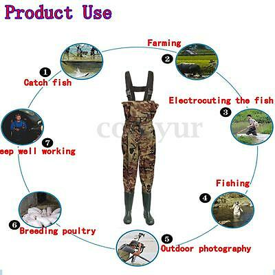 Camo Nylon Chest Waders Belt Size 6 7 8 9 10 11 12 Waterproof Fly Coarse Fishing