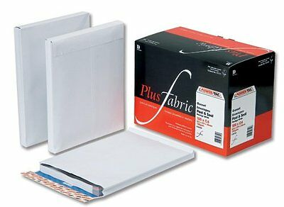 Plus Fabric Envelopes Peel and Seal Gusset 25mm 120gsm White 305x250mm [Pack 100