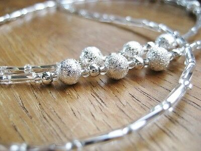 Silver Spectacle / Glasses Chain / Retainer / Silver Mixed Beads UK handmade