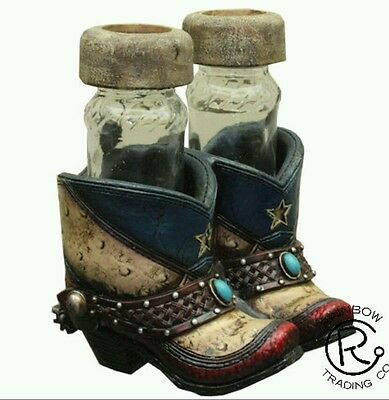 Lone star boots salt and pepper shakers for the kitchen