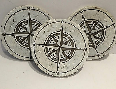 3 x Sundial Stepping Stones Garden Path Trail Decorative Crazy Paving Steps Set