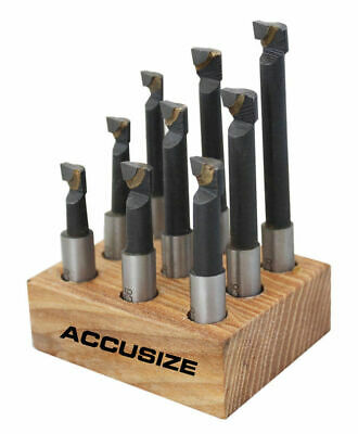 3/8'' 9 Pcs/Set Carbide Tipped Boring Bar Set, #0375-0111