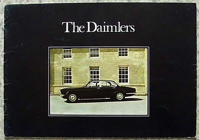 DAIMLER DOUBLE SIX & SOVEREIGN Car Sales Brochure 1974 #40M/10/74
