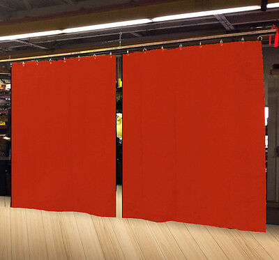 Lot of (2) Economy Mandarin Orange Curtain Panel 15 H x 4½ W, Non-FR