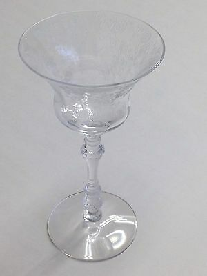 Cambridge Crystal Rose Point 3500 Sherbet Champagne Glass 6 1/4