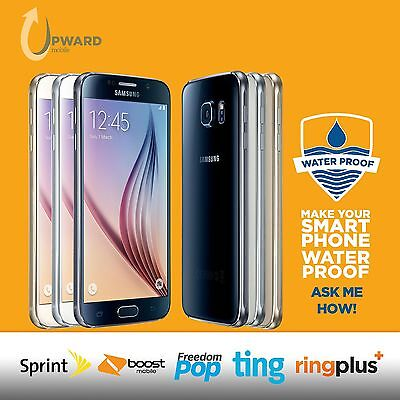 Samsung Galaxy S6 SM-G920P (32GB, 64GB, 128GB) Sprint Boost Ting Flash Wireless