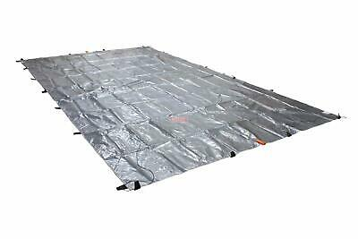Heavy Duty 8oz Hay Tarps Silver Black 14.5 mil 15' x 54'