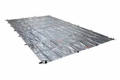 Heavy Duty 8oz Hay Tarps Silver Black 14.5 mil 25' x 48'