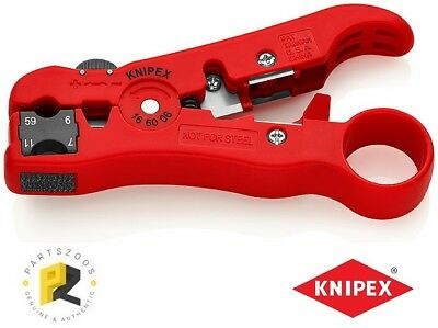 Knipex Wire Cutter Coax Cable insulation Stripper 166006 125mm