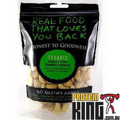 Honest To Goodness 500G Organic Cashews Oven Roasted High Oleic For Heart Health