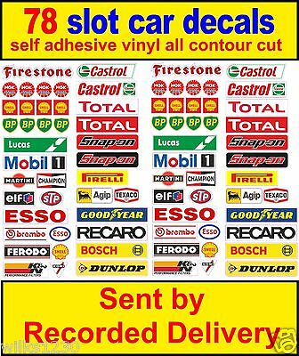 Scalextric barrier stickers model decals race logo lego adhesive vinyl