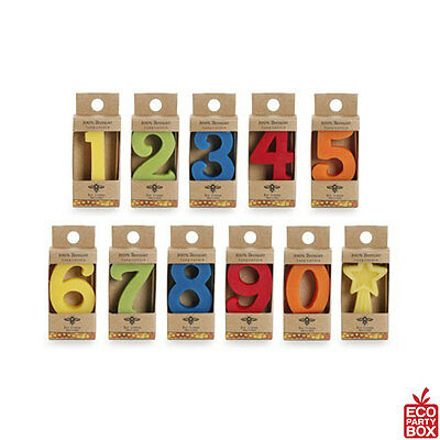 New BEESWAX BIRTHDAY NUMBER CANDLES
