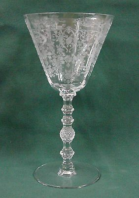 Cambridge Glass DIANE-CLEAR #3122 Water Goblet Stem BEST Multiple Available