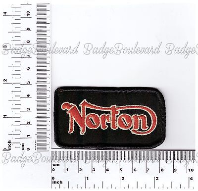 Norton Script Badge Embroidered Cloth Patch