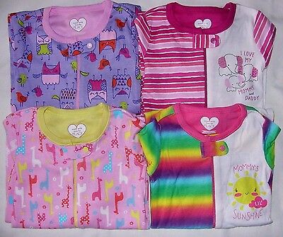 Tcp Baby Toddler Girl Cotton S/s Footless Stretchie Pajamas Jammies 03-24M 2T-5T