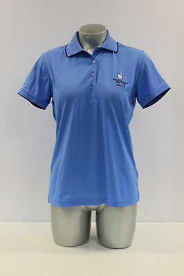 New With Tags Womens Sporte Leisure Dri-Sporte Golf Polo Shirt In Lt Blue/navy