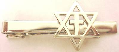 MESSIANIC CROSS Christians for Israel Support Jewish TIE BAR CLIP