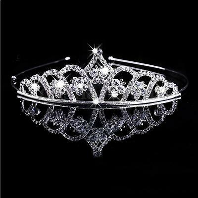 Wedding Rhinestone Bridal Crystal Hair Headband Crown Comb Tiara Prom Pageant US