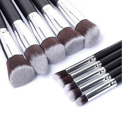 10pcs Kabuki Professional Make up Brush Set Foundation Blusher Face Powder sigma