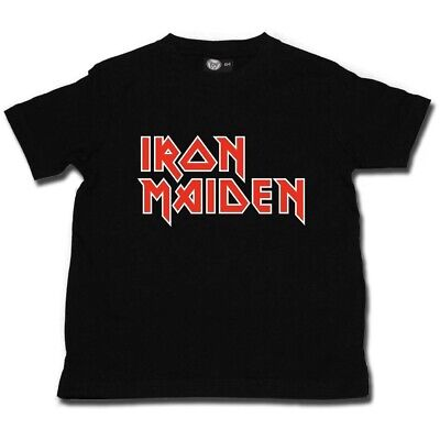 Iron Maiden Logo Kids T Shirt Officl Boys Girls Toddler Tshirt T-shirt  Age 2-8