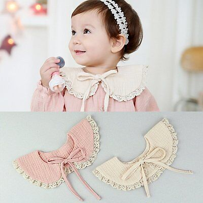 Cute Chic Girl Kids Baby Cotton Detachable Shawl/False Floral Trim Collar/Scarf