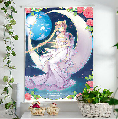Sailor Moon White Beauty Poster Wall Painting Murals Scroll Painting 60*40
