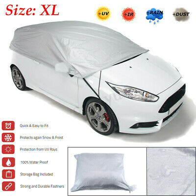 Universal XL Waterproof Outdoor Car Half Top Roof Cover Sun UV Rain Protection