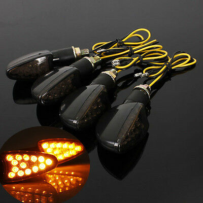 4x LED UNIVERSAL MOTORCYCLE MOTORBIKE TURN SIGNAL INDICATORS LIGHT BLINKER E11