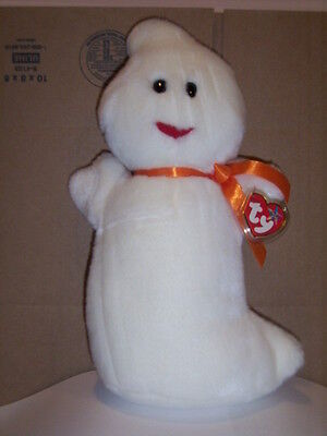Retired Ty Beanie Buddy Spooky The Ghost Mint With Tags