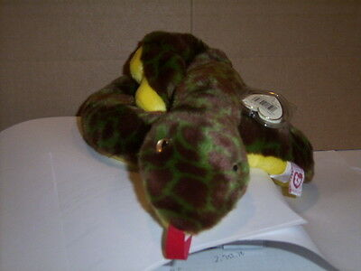 Retired Ty Beanie Buddy Slither The Snake Mint With Tags Vhtf
