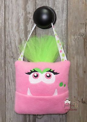 Embroidered Monster Tooth Fairy Pillow Boy or Girl