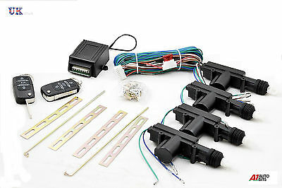 4 Door Car Central Lock Locking Keyless Entry Kit System With 2 Remote Fobs Keys