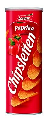 LORENZ - Chipsletten - Paprika - 170 gr tube - German Production