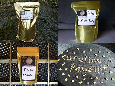Gold Paydirt Combo Box! 10lb Unsearched, 3lb Picker, and 8oz Gold Concentrates.