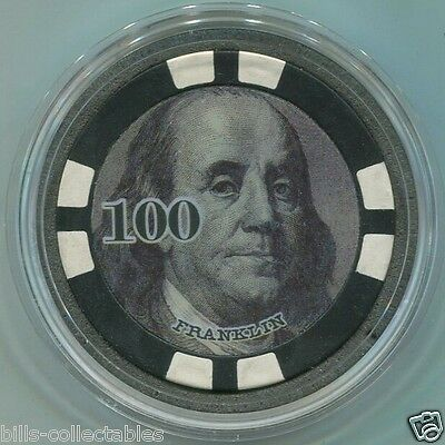 President Franklin money Poker Card Guard Protector - Black 100