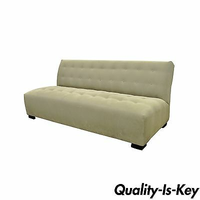 Crate & Barrel Mitchell Gold Modern Plus Armless Sofa Loveseat Couch 336-003T-20