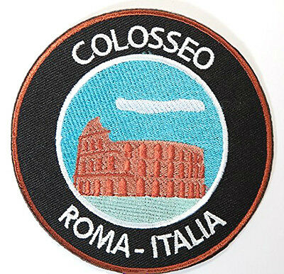 The Colosseum Rome Patch Embroidered Badge Gladiator Souvenir Colosseo Italy NEW