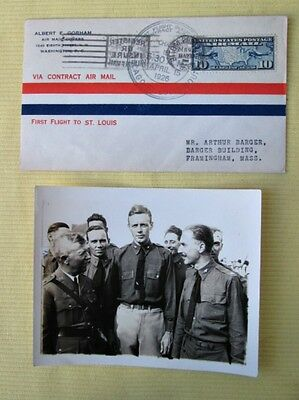 Vintage First Day Cover,FIRST FLIGHT,1926,Chicago-St.Louis & LINDBERGH PHOTO