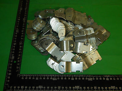 "Lot of 58 Pairs Miscellaneous 1"" Inch Pipe Strap No Bolts"