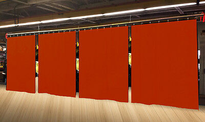 Lot of (4) Economy Mandarin Orange Curtain Panel 10 H x 4½ W, Non-FR